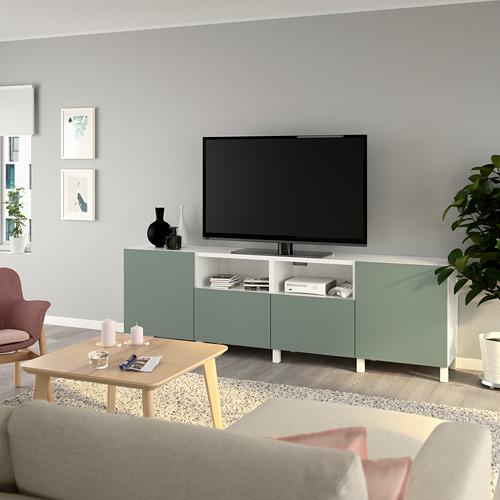 BESTÅ TV galdiņš ar durvīm un atvilktnēm