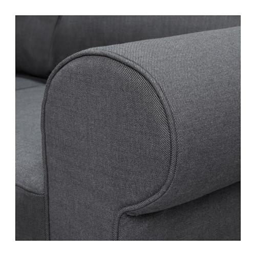 EVERTSBERG kampinė sofa-lova su patalynės dėže