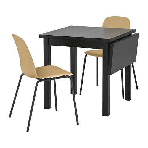 LEIFARNE/NORDVIKEN galds un 2 krēsli