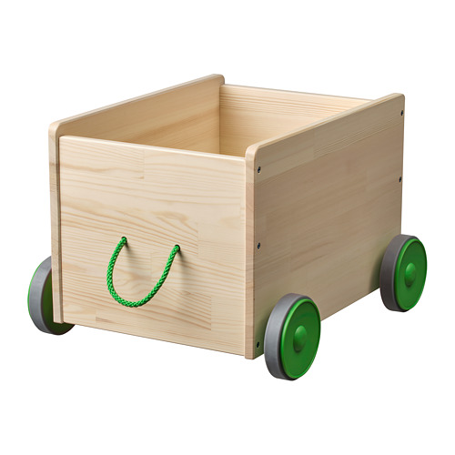 FLISAT rotaļlietu kaste uz ritenīšiem