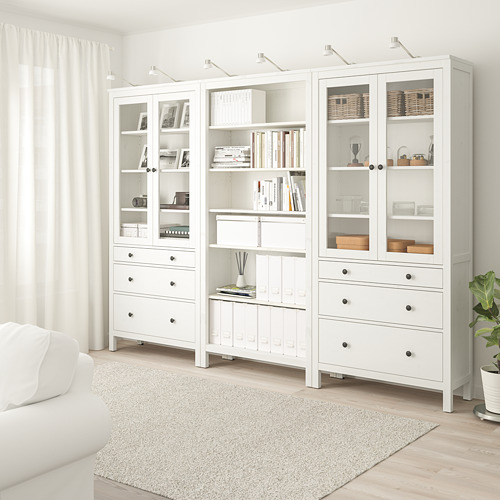 HEMNES storage combination w doors/drawers