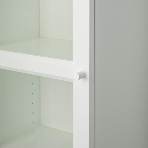 BILLY/OXBERG knygų spinta su stikl. durimis