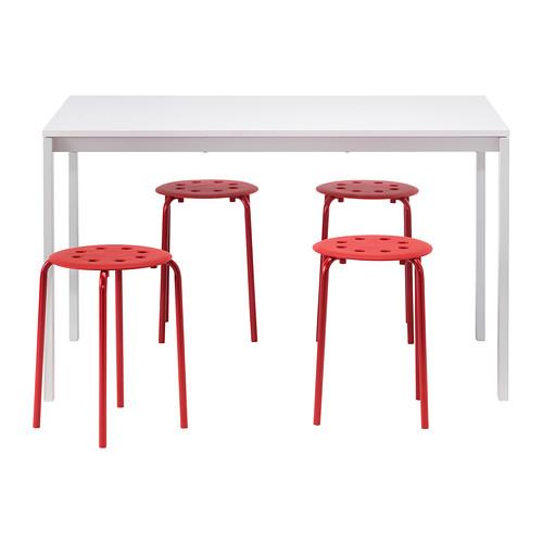 MELLTORP/MARIUS stalas ir 4 taburetės