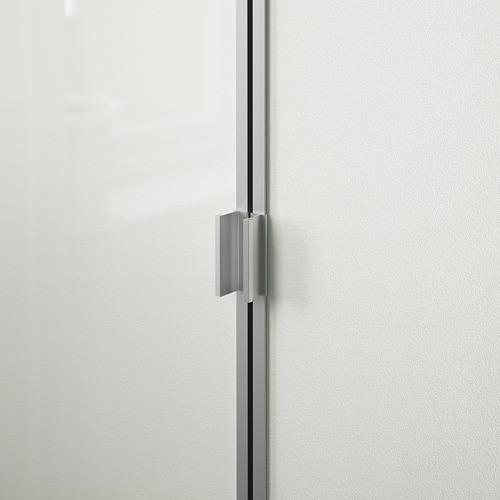 BILLY/MORLIDEN grāmatplaukts ar stikla durvīm