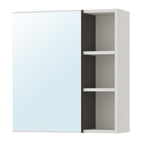 LILLÅNGEN veidrodinė spintelė su lentynėlėmis