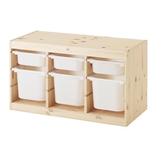 TROFAST daiktų laik. derinys su dėžėmis