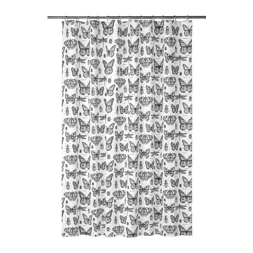 SOMMARMALVA, dušikardin 180x200 cm valge/tumehall