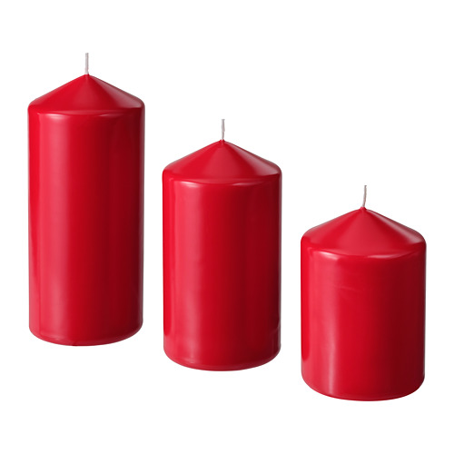 VINTERFEST svece, 3 gab.