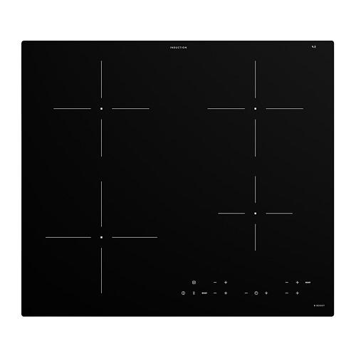 MATMÄSSIG  indukcijas plīts virsma, 59x52x4.9 cm,  IKEA 300 melnā krāsā