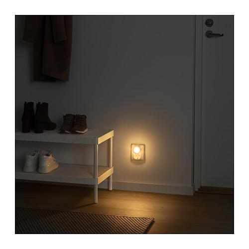 MÖRKRÄDD naktinis LED šviestuvas su jutikliu