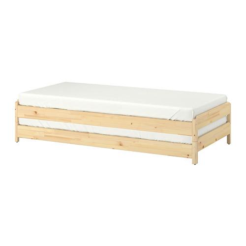 UTÅKER virnastatav voodi 2 madratsiga