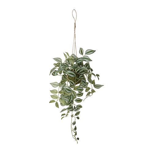INVÄNDIG mākslīgais augs, 70 cm pakarināms Tradeskancija