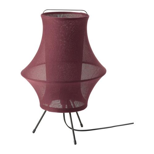 FYXNÄS, galda lampa, 44cm,  tumši sarkanā krāsā