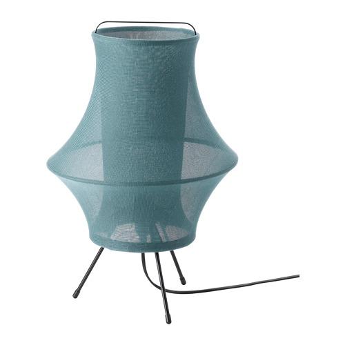 FYXNÄS, galda lampa, 44cm, tirkīzzilā krāsā