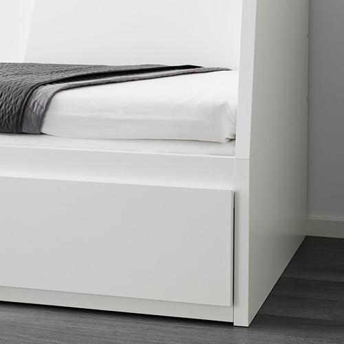 FLEKKE gultas rāmis ar 2 atvilktnēm