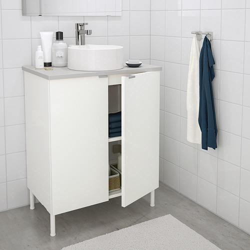 GUTVIKEN/LILLÅNGEN/VISKAN izlietnes skapītis ar 2 durvīm
