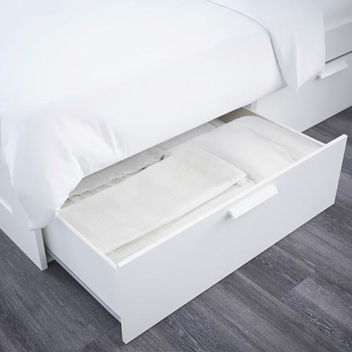 BRIMNES voodir pesukastiga ja peatoega