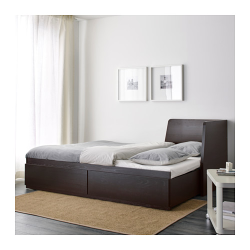 FLEKKE day-bed w 2 drawers/2 mattresses