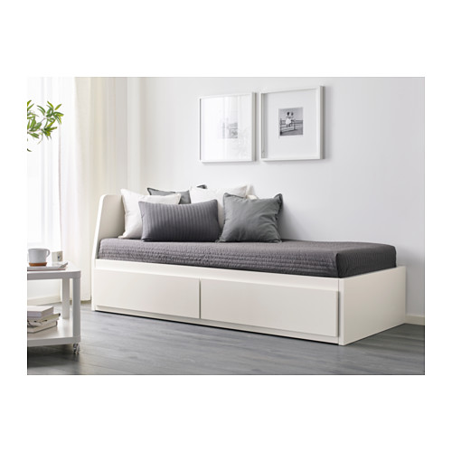 FLEKKE day-bed frame with 2 drawers