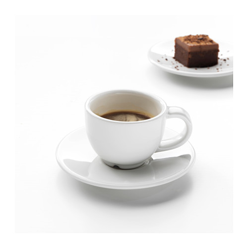 VARDAGEN espresso krūze un apakštase