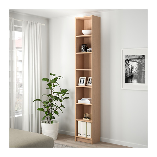 BILLY bookcase with height extension unit