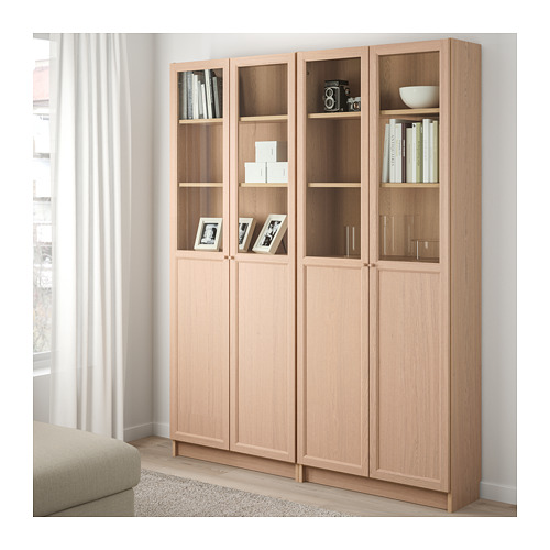 BILLY/OXBERG bookcase combination with doors