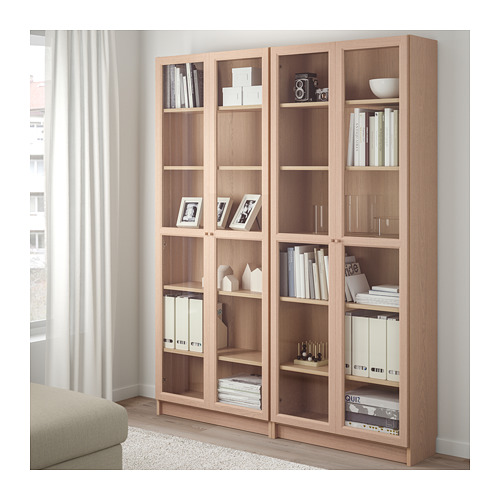 BILLY/OXBERG bookcase combination/glass doors