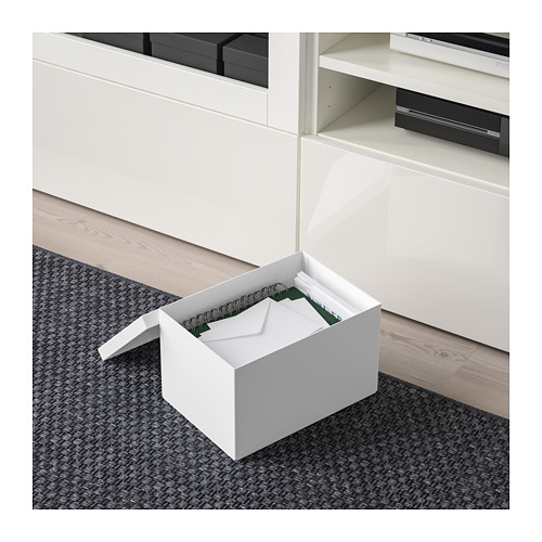 TJENA storage box with lid