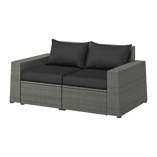 SOLLERÖN 2-seat modular sofa, outdoor