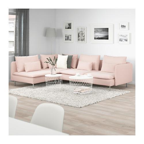 SÖDERHAMN kampinė keturvietė sofa