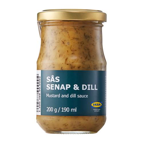 SÅS SENAP & DILL garstyčių-krapų padažas