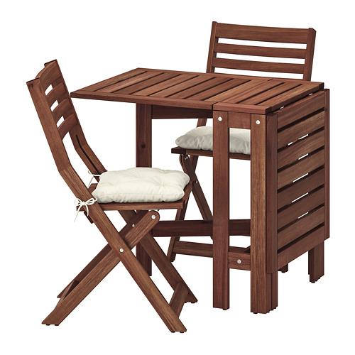 ÄPPLARÖ lauko stalas+2 sulanks. kėdės