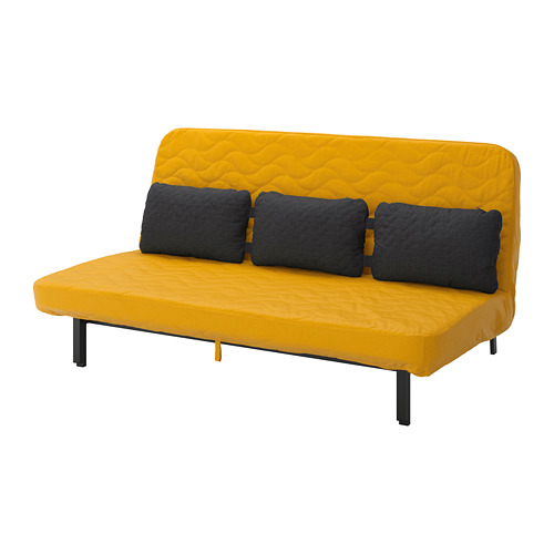 NYHAMN guļamdīvāns ar trim spilveniem