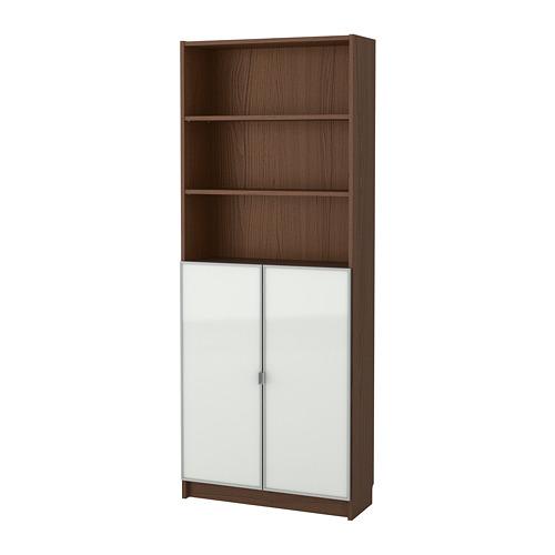 BILLY/MORLIDEN bookcase with glass-doors