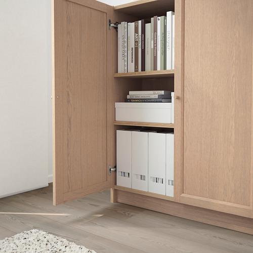 OXBERG/BILLY knygų spinta su durimis