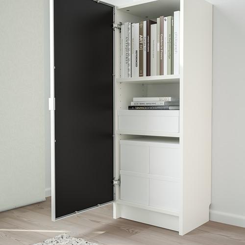 MORLIDEN/BILLY bookcase with glass door
