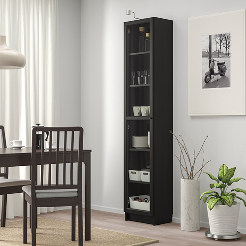 BILLY/OXBERG bookcase with glass door