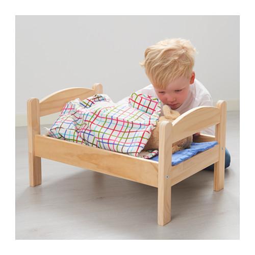 DUKTIG leļļu gulta ar gultas veļu