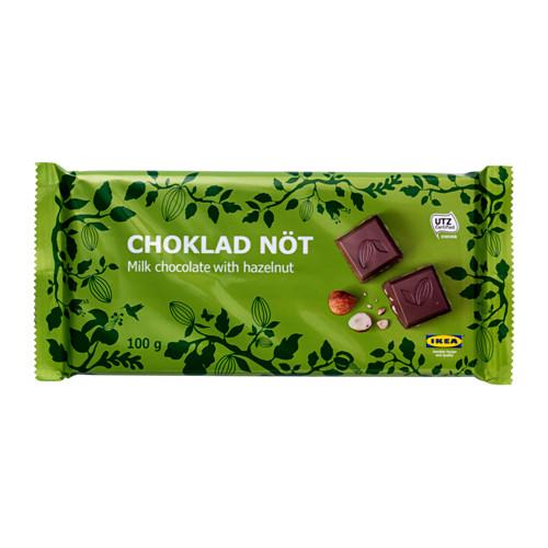 CHOKLAD NÖT pien. šokoladas su lazdyn. riešut.