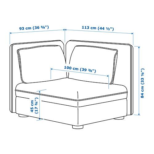 VALLENTUNA sėdimasis baldas su atlošu