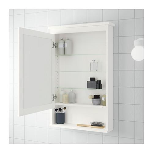 HEMNES spint. su veidrodžiu/1 durelėmis
