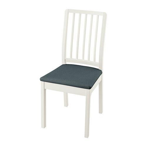 EKEDALEN krēsls, 43x51x95 cm,  baltā krāsā/Idekulla zilā krāsā