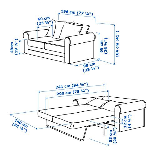 GRÖNLID divvietīgs dīvāns