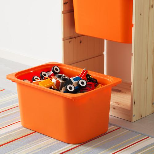 TROFAST plauktu kombinācija ar kastēm