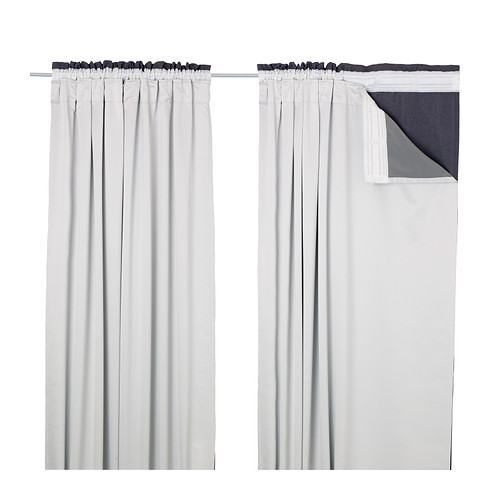GLANSNÄVA curtain liners, 1 pair