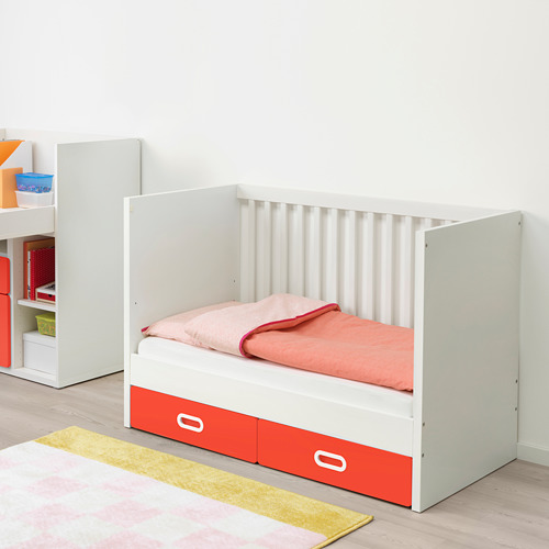 FRITIDS/STUVA cot with drawers
