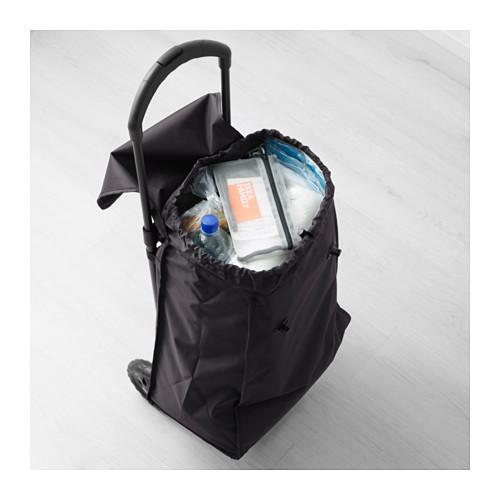 KNALLA pirkinių krepšys su ratukais