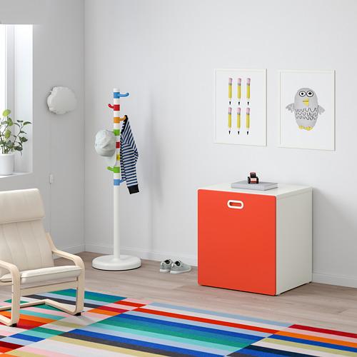 FRITIDS/STUVA kaste ar ritenīšiem rotaļl. glab.