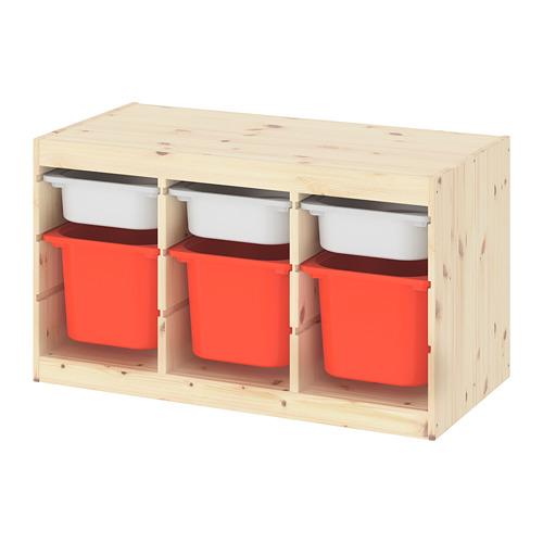TROFAST riiul/kapp ja kastid