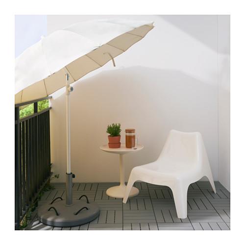 SAMSÖ/LÖKÖ parasol with base